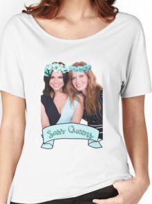Lana Parrilla & Rebecca Mader - Sass Queens Women's Relaxed Fit T-Shirt
