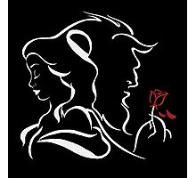beauty and the beast red rose Photographic Print