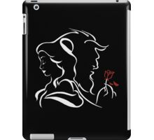 beauty and the beast red rose iPad Case/Skin