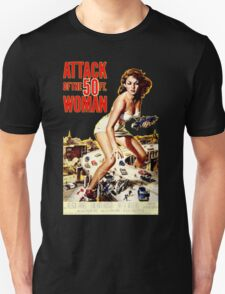 Retro Vintage Drive in Movie Attack of the 50 ft. Woman Unisex T-Shirt