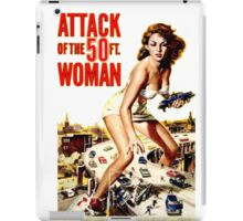 Retro Vintage Drive in Movie Attack of the 50 ft. Woman iPad Case/Skin