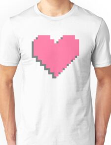 Abstract 8-bit oldschool heart pattern Unisex T-Shirt