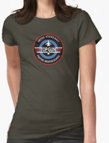 United States Navy Fighter Weapons School Top Gun Insignia Womens Fitted T-Shirt