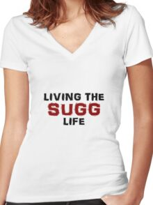 Living the Sugg life Women's Fitted V-Neck T-Shirt