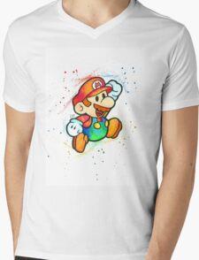 """""""Paper Plumber"""" Mens V-Neck T-Shirt"""