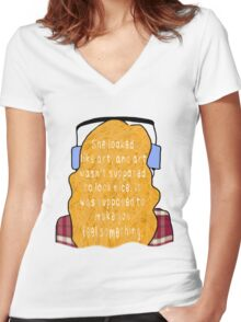 """Eleanor and Park - """"Art"""" Quote Women's Fitted V-Neck T-Shirt"""