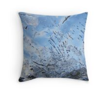 air bubbles in the ice Throw Pillow