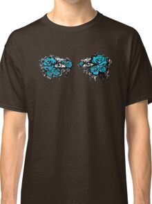 If I could hide your eyes behind the roses - blue version Classic T-Shirt