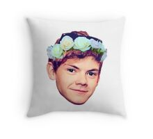 Thomas Brodie-Sangster Flower Crown Throw Pillow