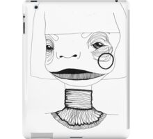 Abstract portrait with necklace. iPad Case/Skin