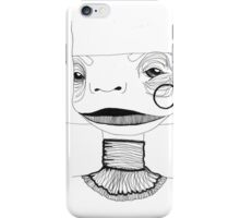 Abstract portrait with necklace. iPhone Case/Skin