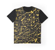 Golden Abstract expressionism pattern. pollock style of drip painting. Graphic T-Shirt