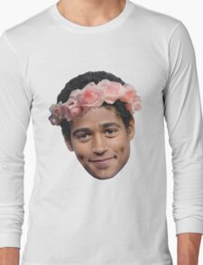 Alfred Enoch Flower Crown Long Sleeve T-Shirt