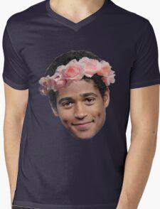 Alfred Enoch Flower Crown Mens V-Neck T-Shirt