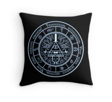Bill Cipher Gravity Falls Symbols and Incantation  Throw Pillow