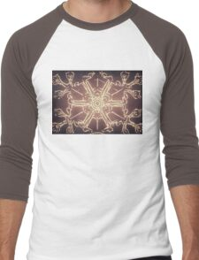 Antique Snowflake Men's Baseball ¾ T-Shirt