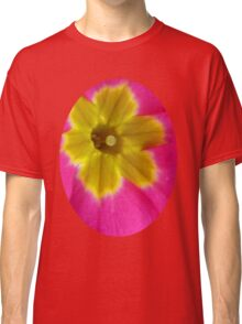 Pink and Yellow Primrose Macro Classic T-Shirt