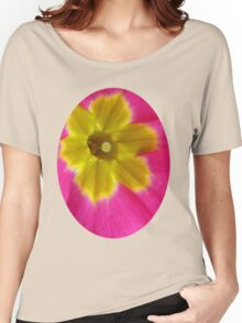 Pink and Yellow Primrose Macro Women's Relaxed Fit T-Shirt