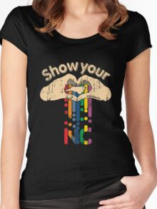 Show Your Love NC Women's Fitted Scoop T-Shirt