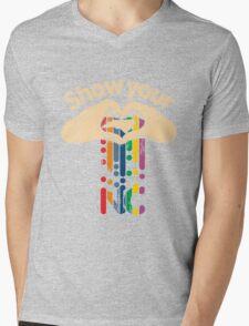 Show Your Love NC Mens V-Neck T-Shirt