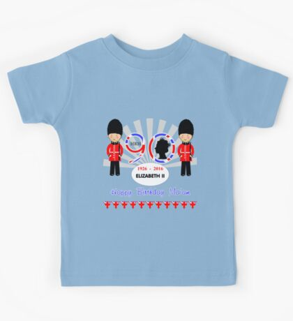 The Queens 90th Birthday Commemorative Design  Kids Tee