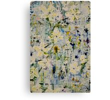 Textured Summer Florals Canvas Print
