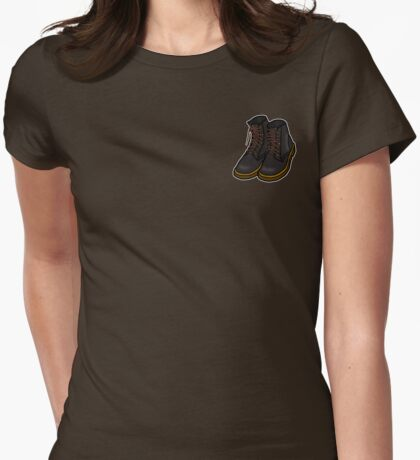Boots [Small] Womens Fitted T-Shirt