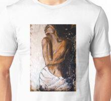Weiblicher Akt mit Tuch Unisex T-Shirt