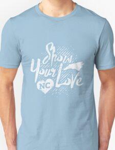 Show Your Love North Carolina, white design  Unisex T-Shirt