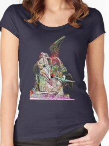 Graffiti angel Women's Fitted Scoop T-Shirt