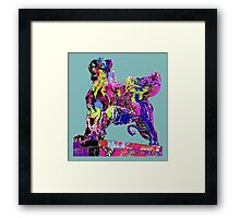 Graffiti covered lion Framed Print