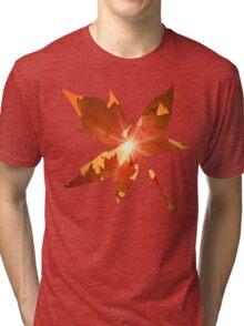 Fall Season Autumn Leaves  Tri-blend T-Shirt