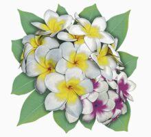 Plumeria Flowers Bouquet One Piece - Short Sleeve