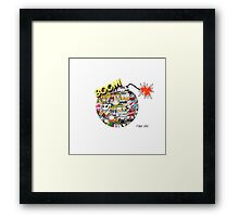 Sticker Bomb Framed Print