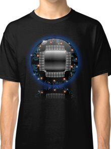 Electronic Motherboard Circuit Sphere Globe Classic T-Shirt