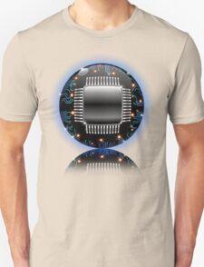 Electronic Motherboard Circuit Sphere Globe Unisex T-Shirt
