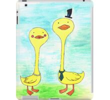 Mr. and Mrs. Duck iPad Case/Skin