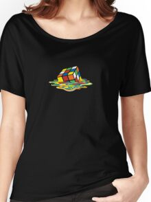 Melted Rubik's Cube Women's Relaxed Fit T-Shirt