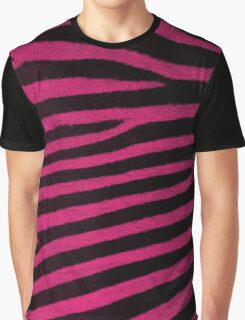 Pink Leather skin of zebra patterned background Graphic T-Shirt
