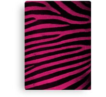 Pink Leather skin of zebra patterned background Canvas Print