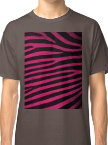 Pink Leather skin of zebra patterned background Classic T-Shirt