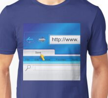 Web Page Browser  Unisex T-Shirt