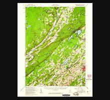 USGS TOPO Map New Jersey NJ Dingmans Ferry 255164 1954 62500 Unisex T-Shirt