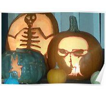 Spooky, scarey pumpkins Poster