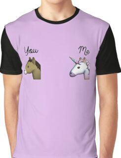 Unicorn emoji me vs you Graphic T-Shirt