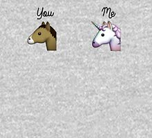 Unicorn emoji me vs you Unisex T-Shirt
