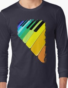 Piano Keyboard Rainbow Colors  Long Sleeve T-Shirt