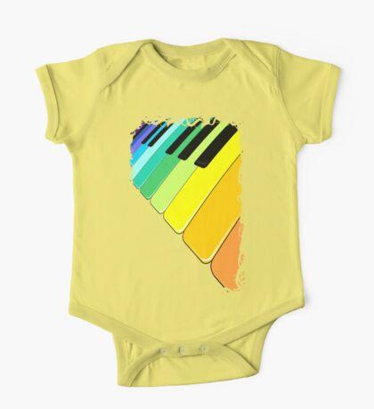 Piano Keyboard Rainbow Colors  One Piece - Short Sleeve