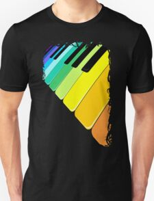 Piano Keyboard Rainbow Colors  T-Shirt