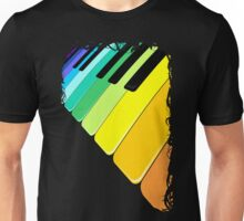 Piano Keyboard Rainbow Colors  Unisex T-Shirt
